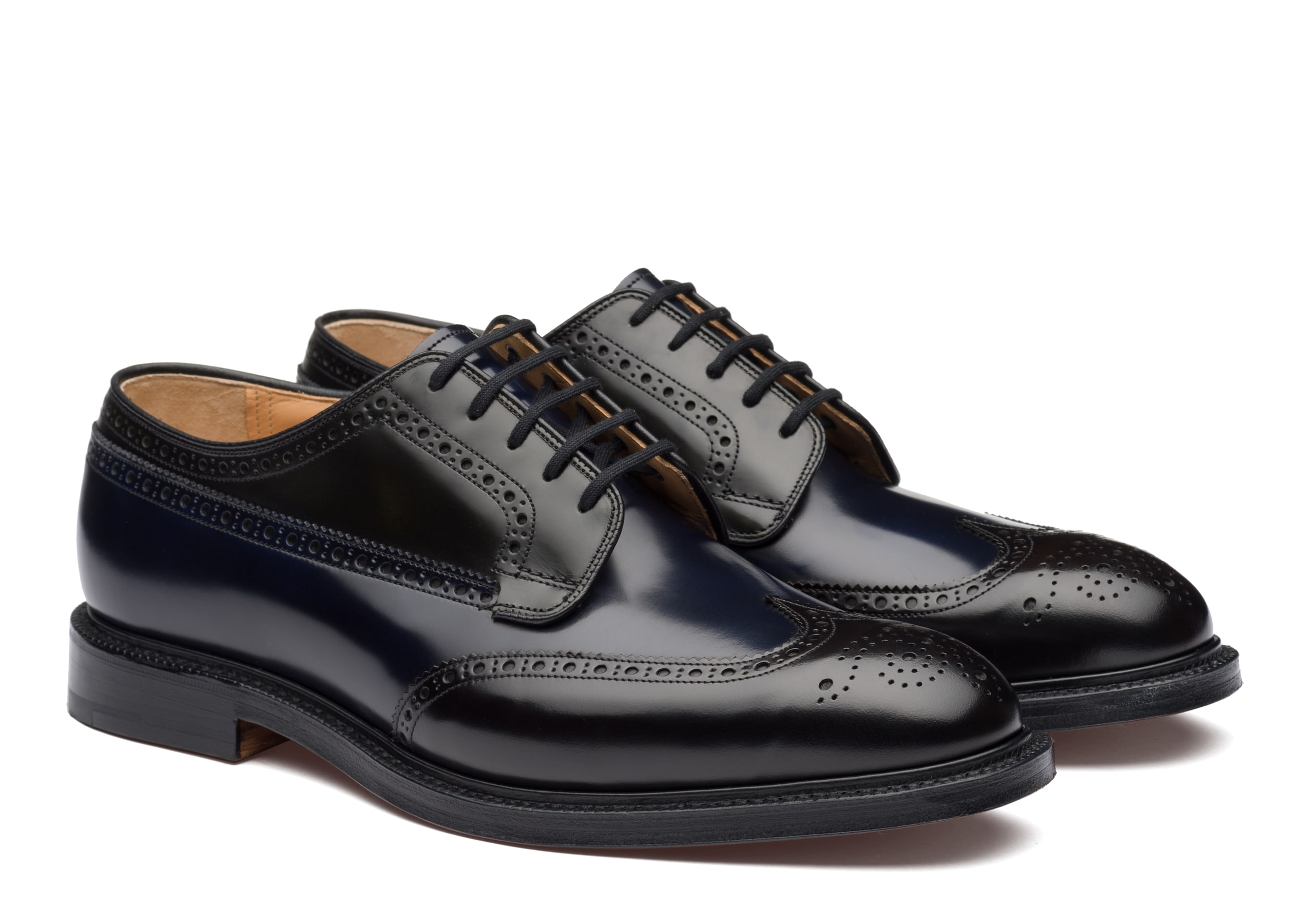 Grafton Church's Polished Binder Derby Brogue Tricolor Brown
