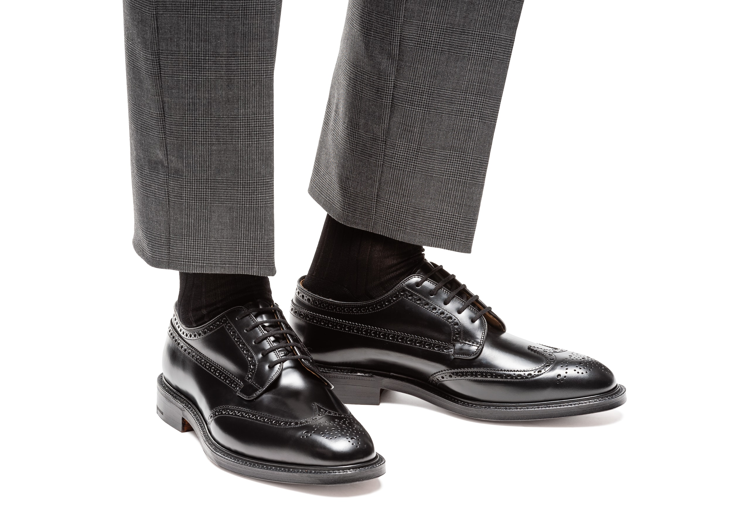 Grafton Church's Polished Binder Derby Brogue Black