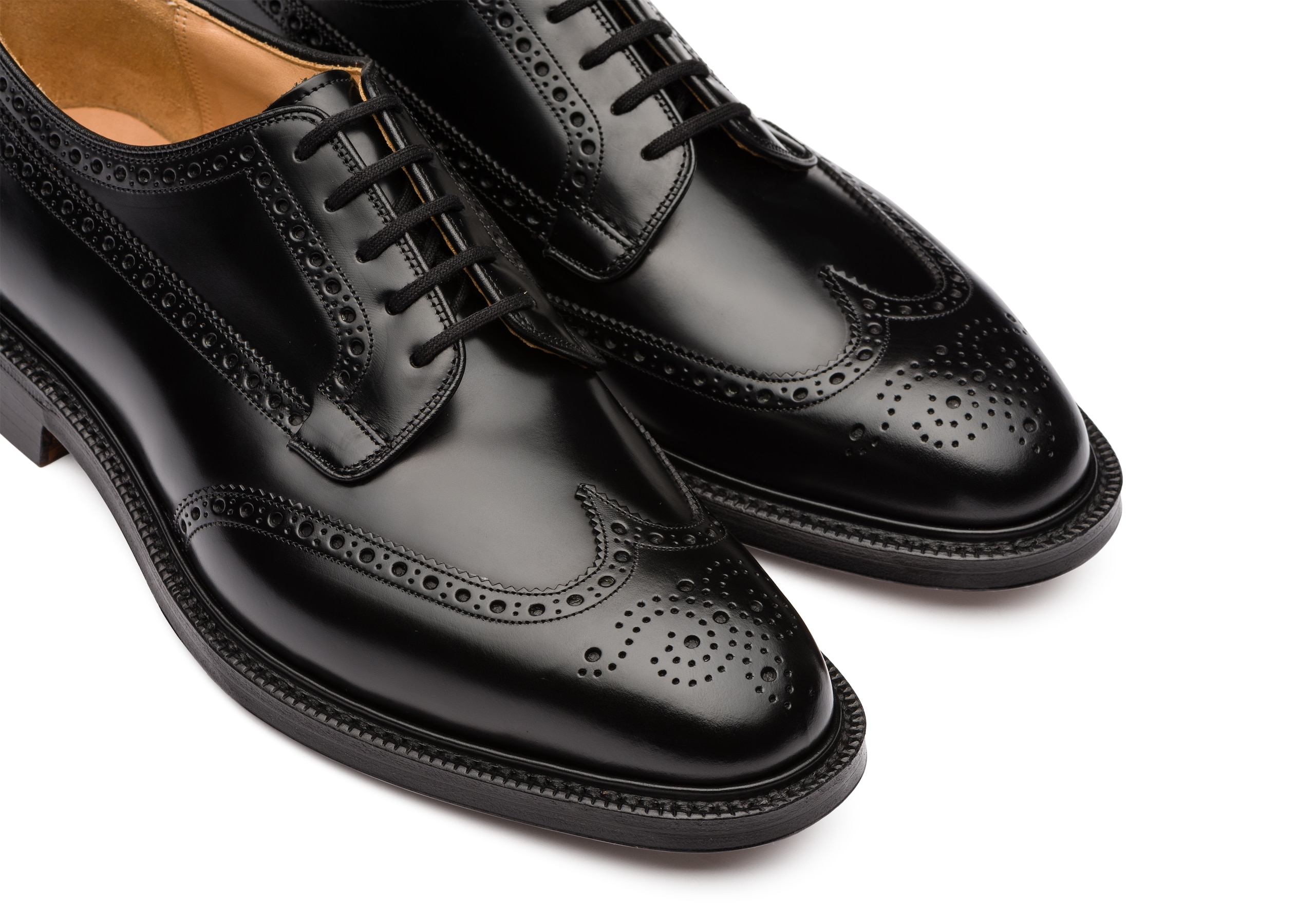 Grafton 173 Church's Polished Binder Derby Brogue Black
