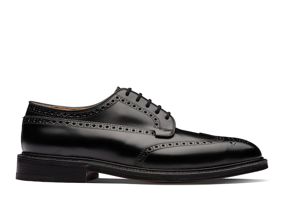 Church's Grafton Derby Richelieu à Liant Poli Noir