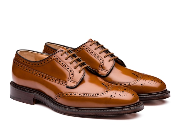 Church's true Derby Brogue in Pelle di Vitello Spazzolato Sandalwood