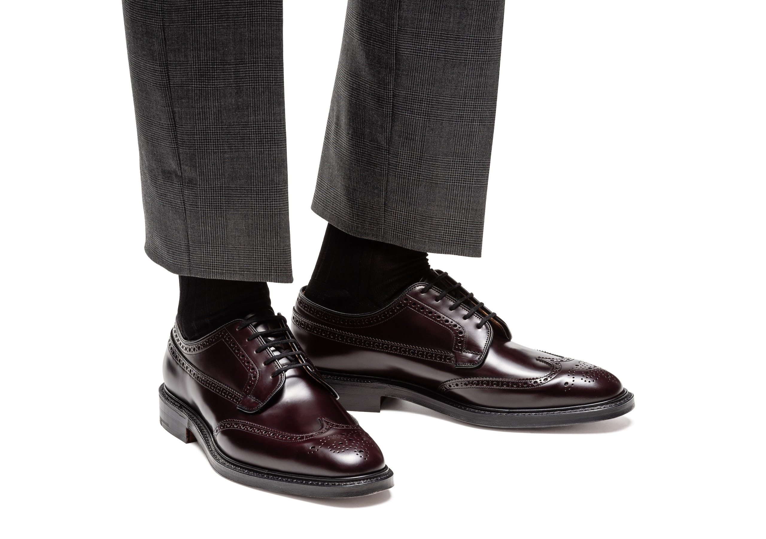 Grafton Church's Polished Binder Derby Brogue Burgundy