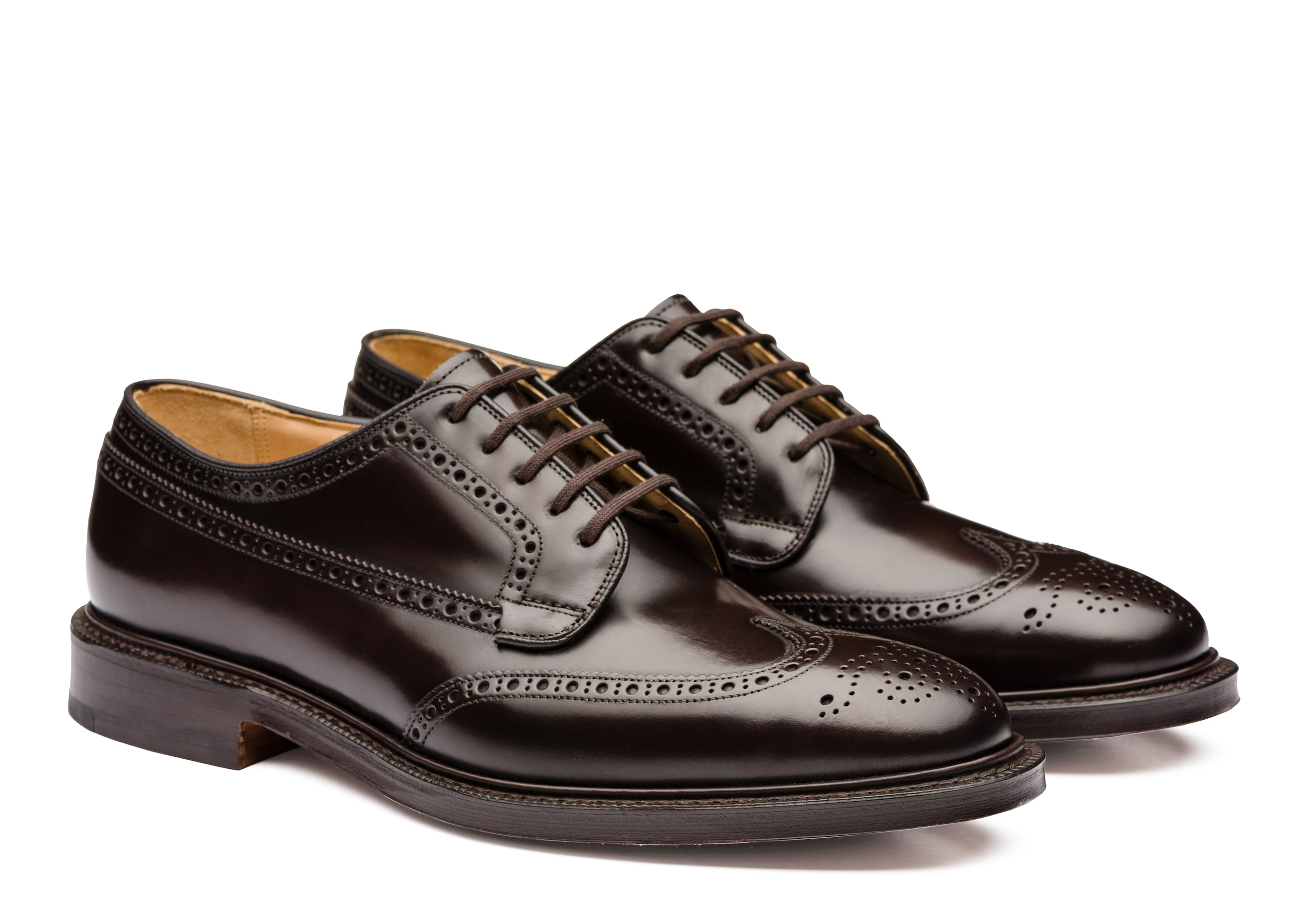 Grafton 173 Church's Polished Binder Derby Brogue Brown