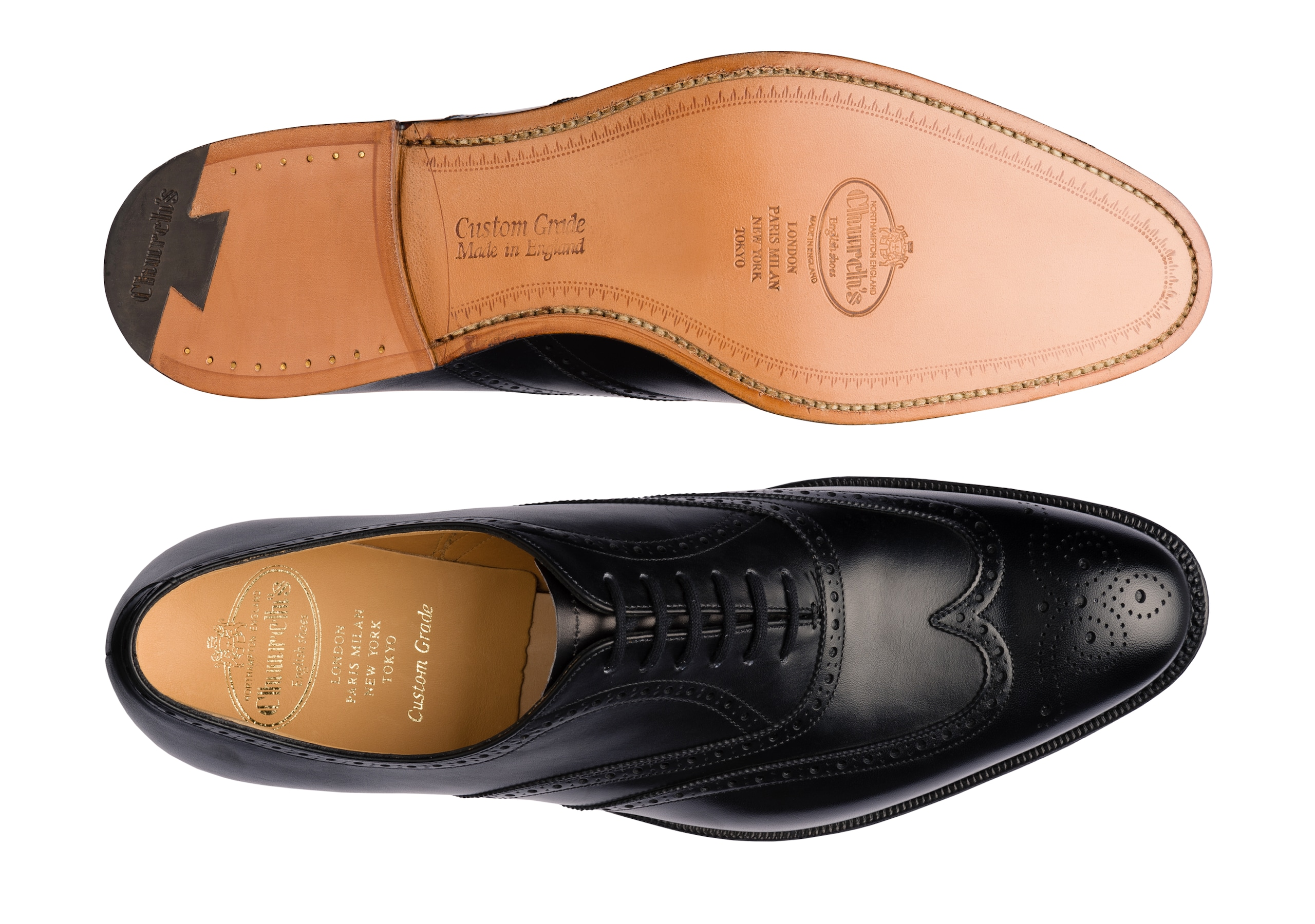 Berlin Church's Calf Leather Oxford Brogue Black