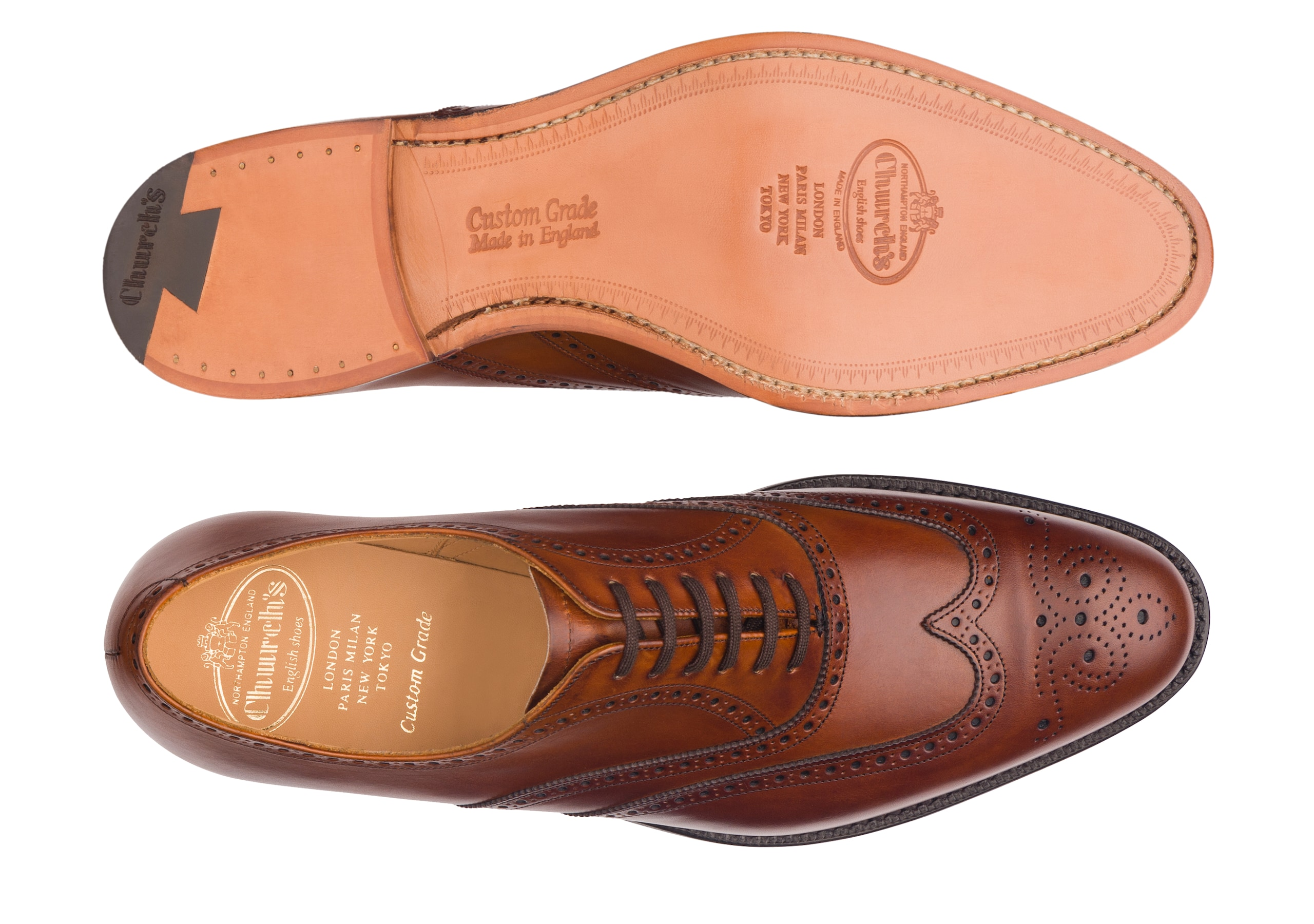 Berlin Church's Oxford Brogue in Pelle di Vitello Marrone