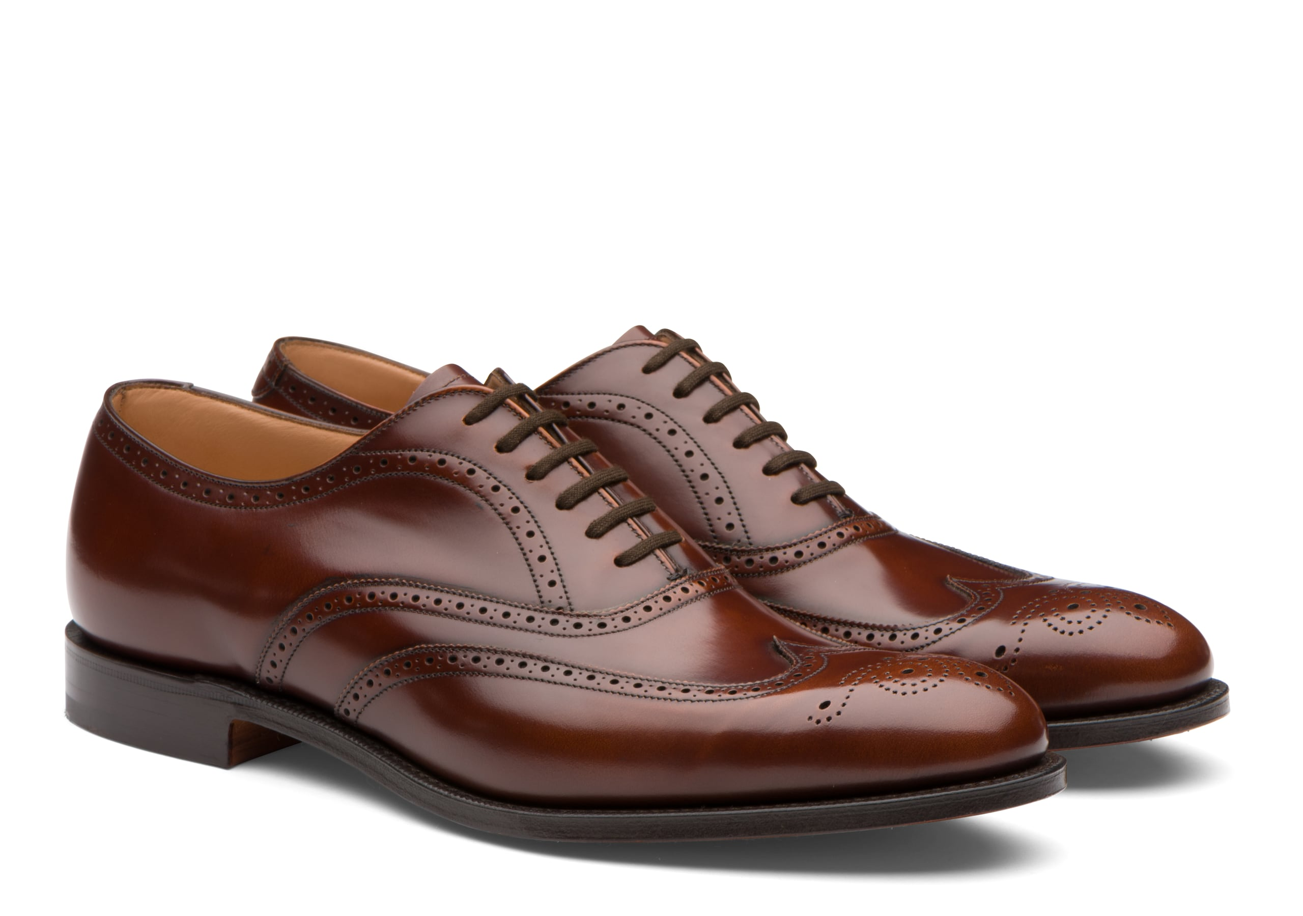 Berlin Church's Polished Fumè Oxford Brogue Brown