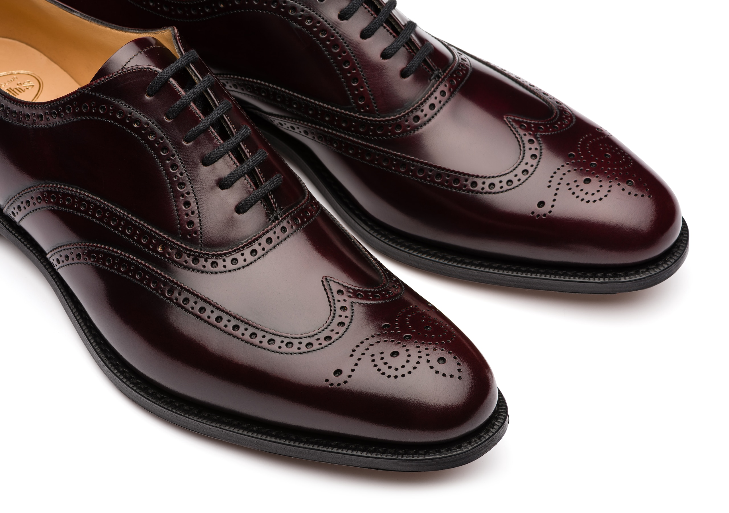 Berlin Church's Polished Binder Oxford Brogue Burgundy