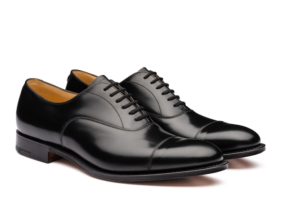 Church's Dubai Oxford in Pelle di Vitello Spazzolato Nero