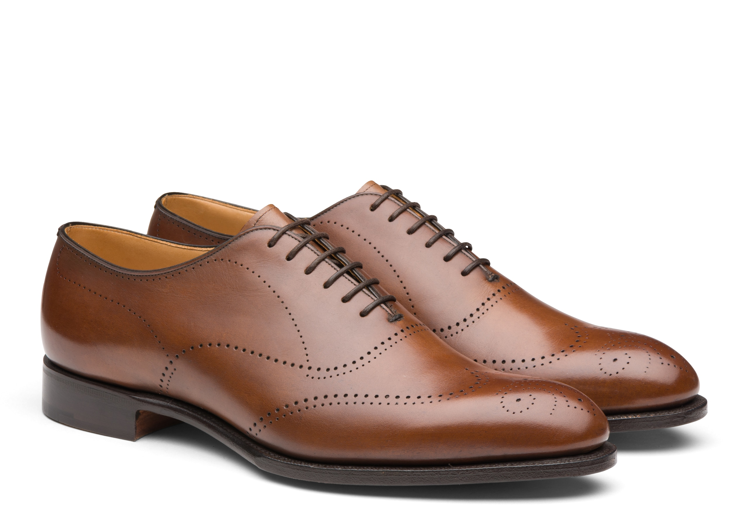 Dickens Church's Doha Leather Oxford Brogue Neutral