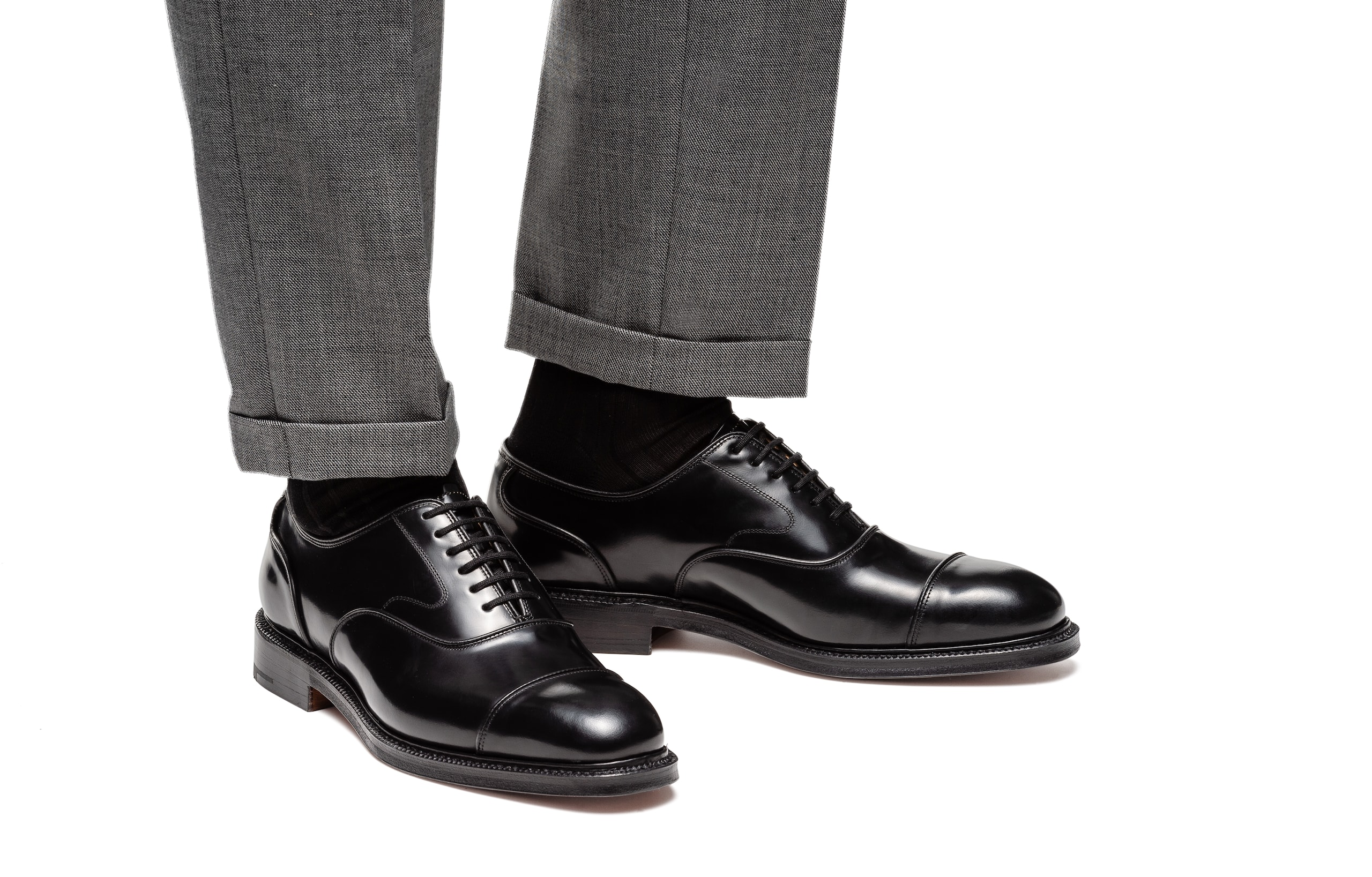 Ongar Church's Polished Fumè Oxford Black