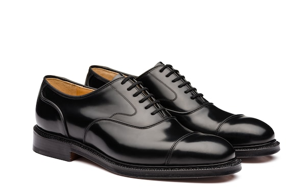 Church's true Polished Fumè Oxford Black
