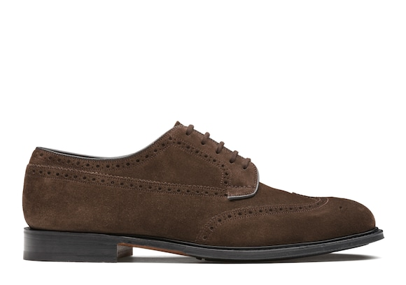 Church's true Derby Brogue in Pelle Scamosciata Marrone