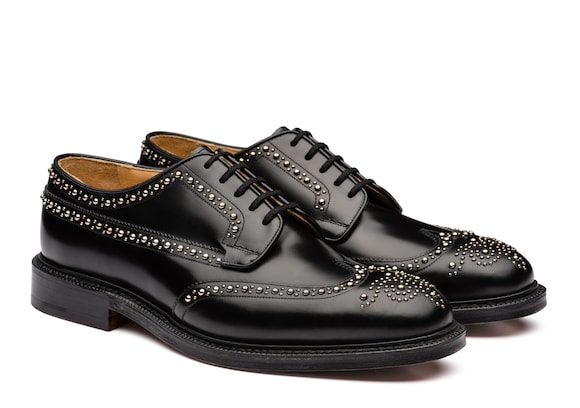 Church's Grafton met Polished Binder Derby Brogue  Stud Black