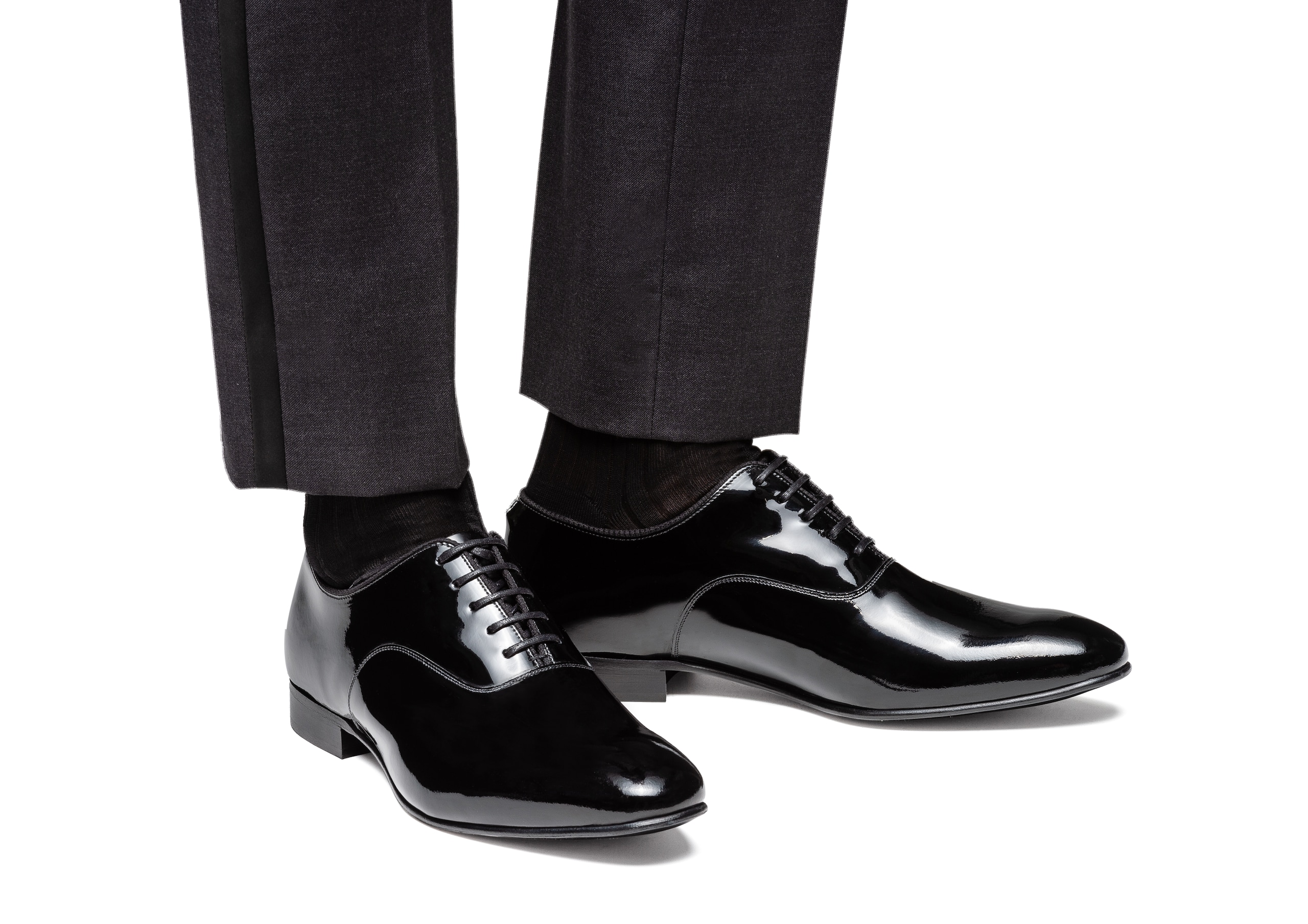 Whaley Church's Patent Leather Oxford Black