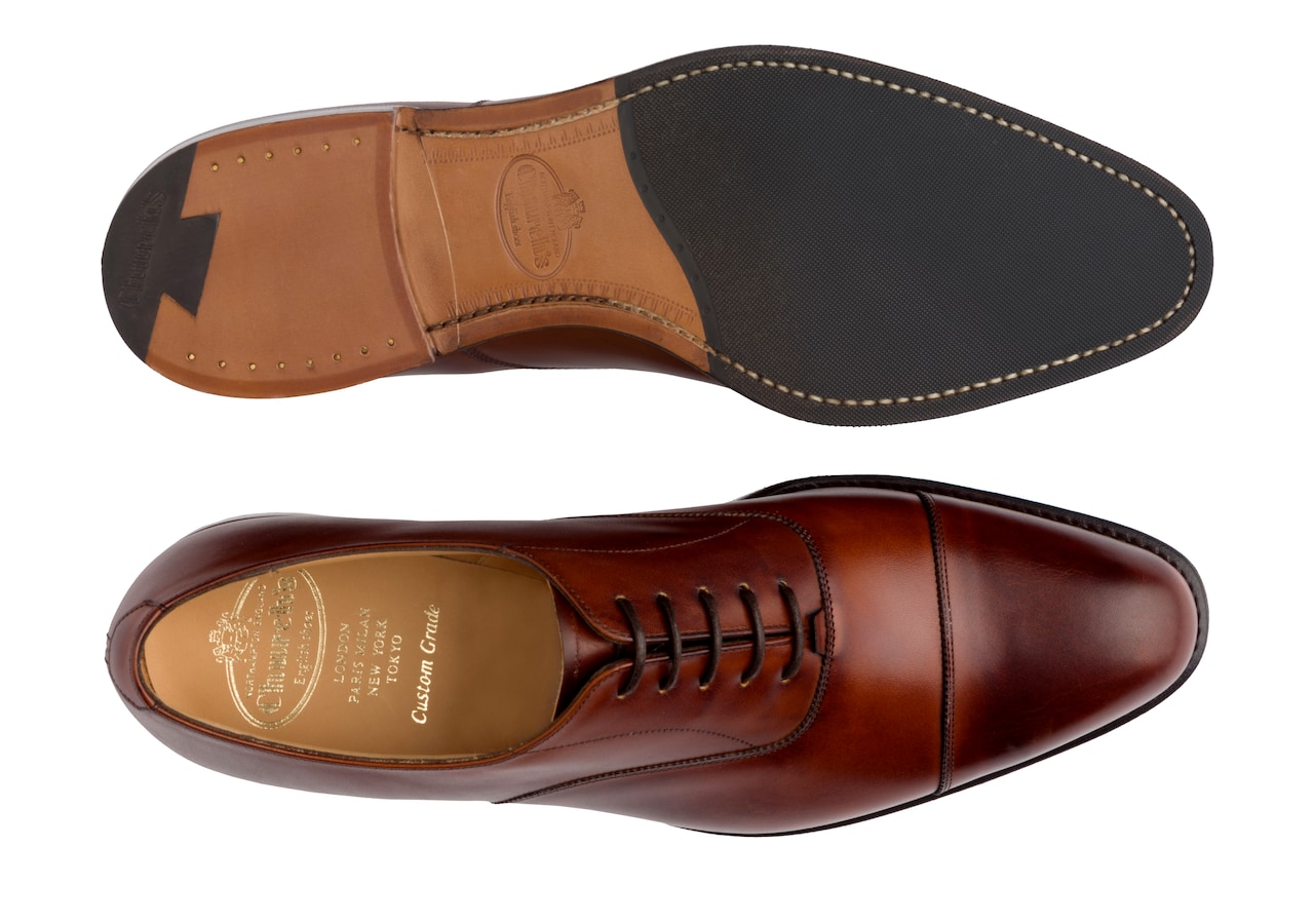 Westerham Church's Nevada Leather Oxford Brown