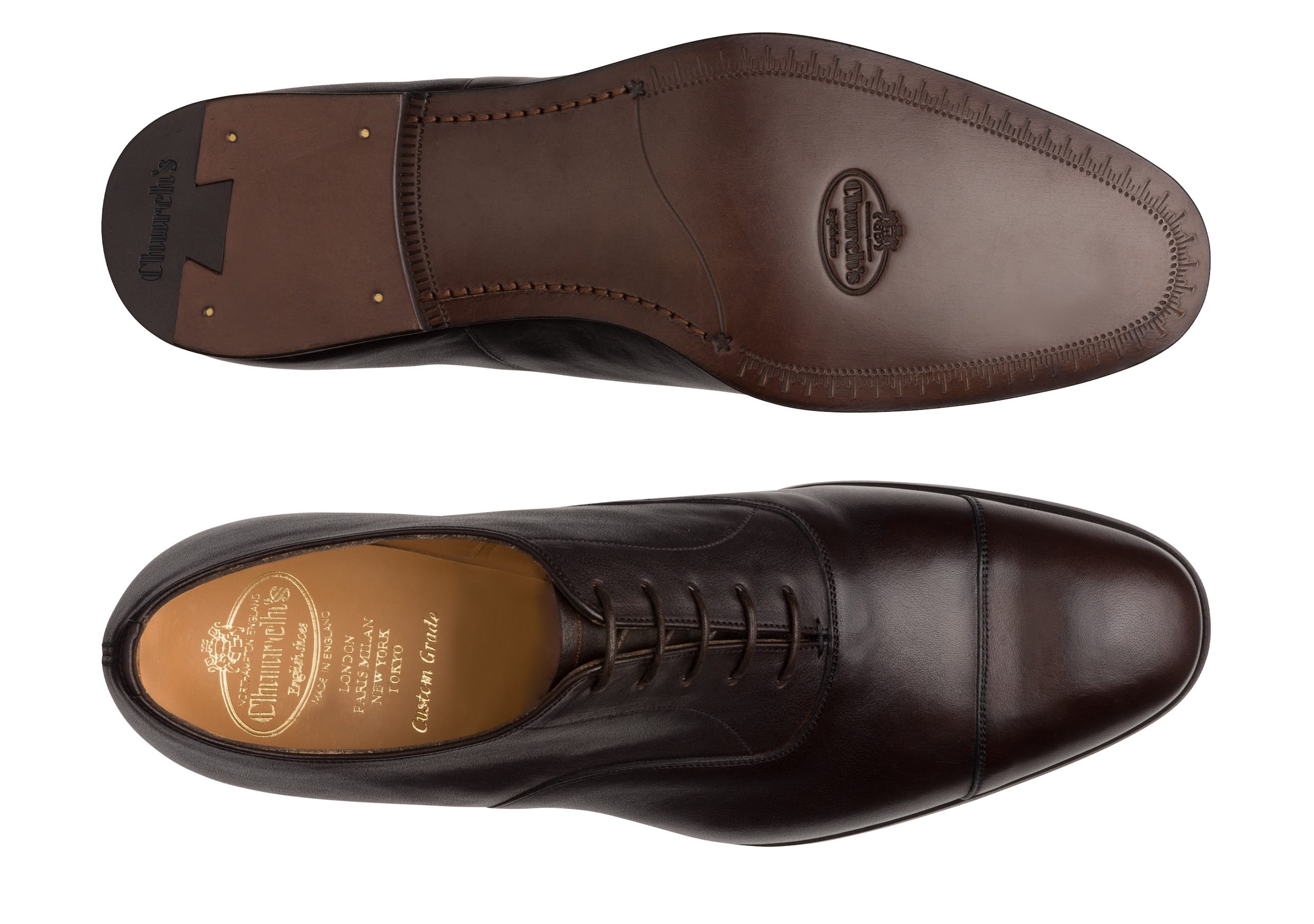 Dingley Church's Vintage Calf Leather Oxford Brown