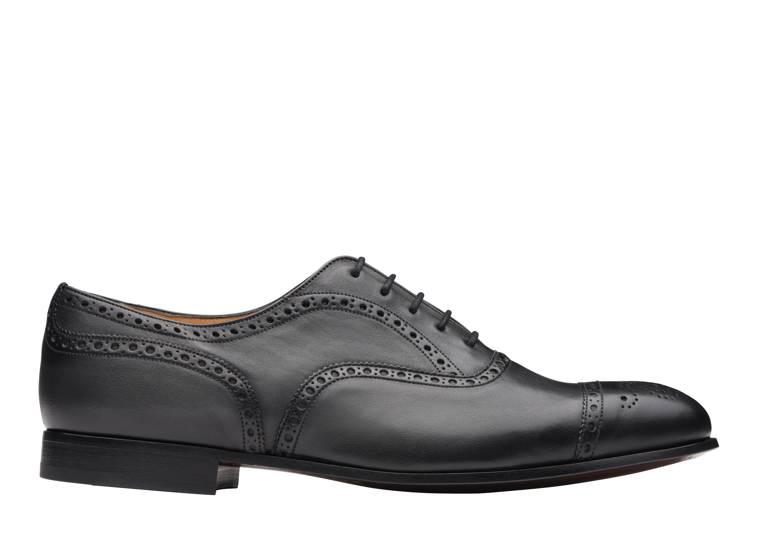 Duxford Church's Vintage Calf Leather Oxford Brogue Black