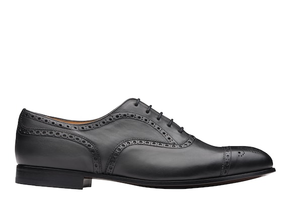 Church's Duxford Oxford Brogue in Pelle di Vitello Vintage Nero