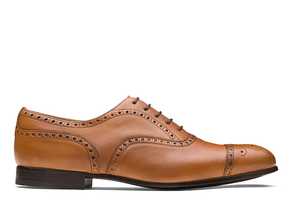 Church's Duxford Oxford Brogue in Pelle di Vitello Vintage Beige