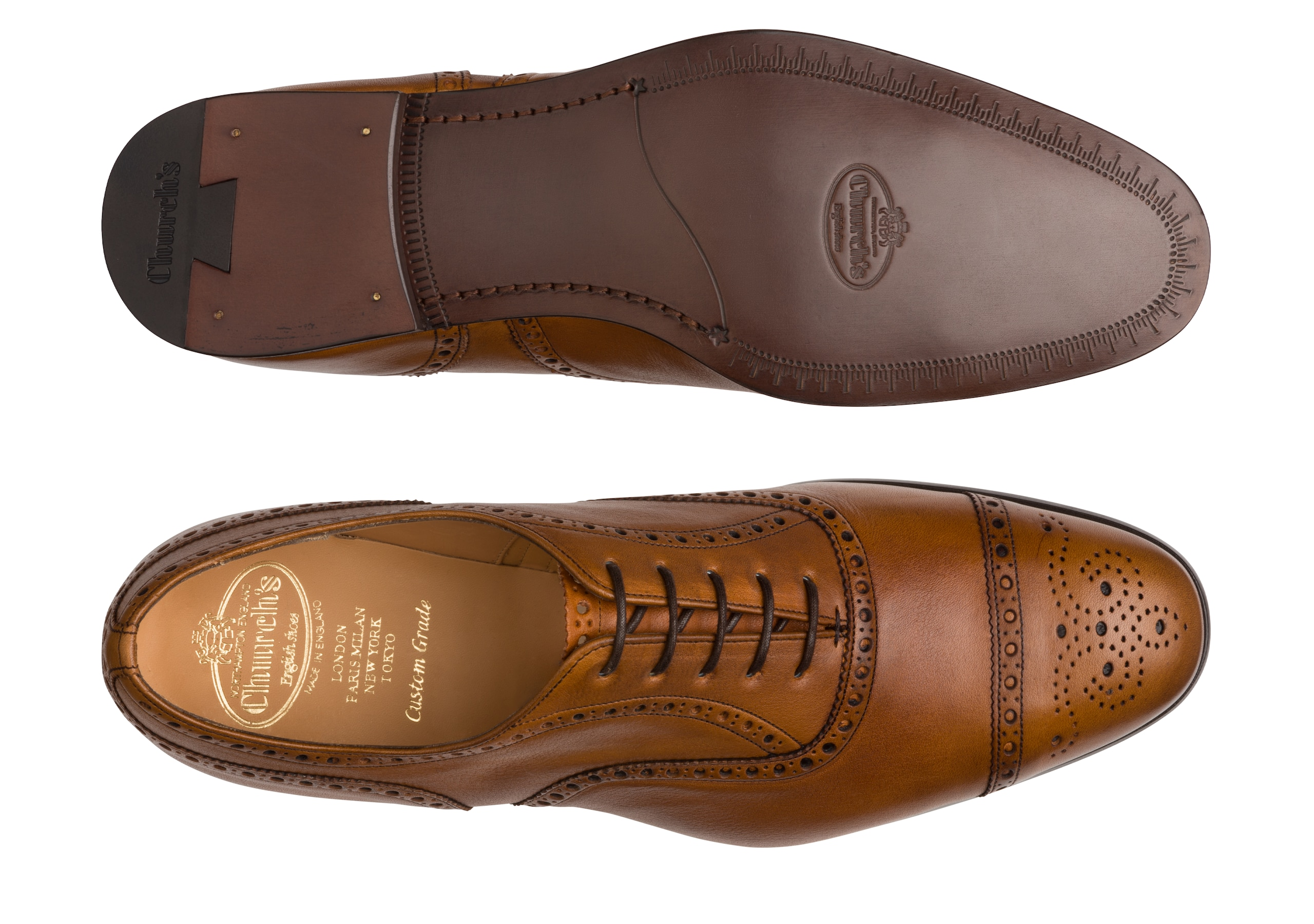 Duxford Church's Vintage Calf Leather Oxford Brown