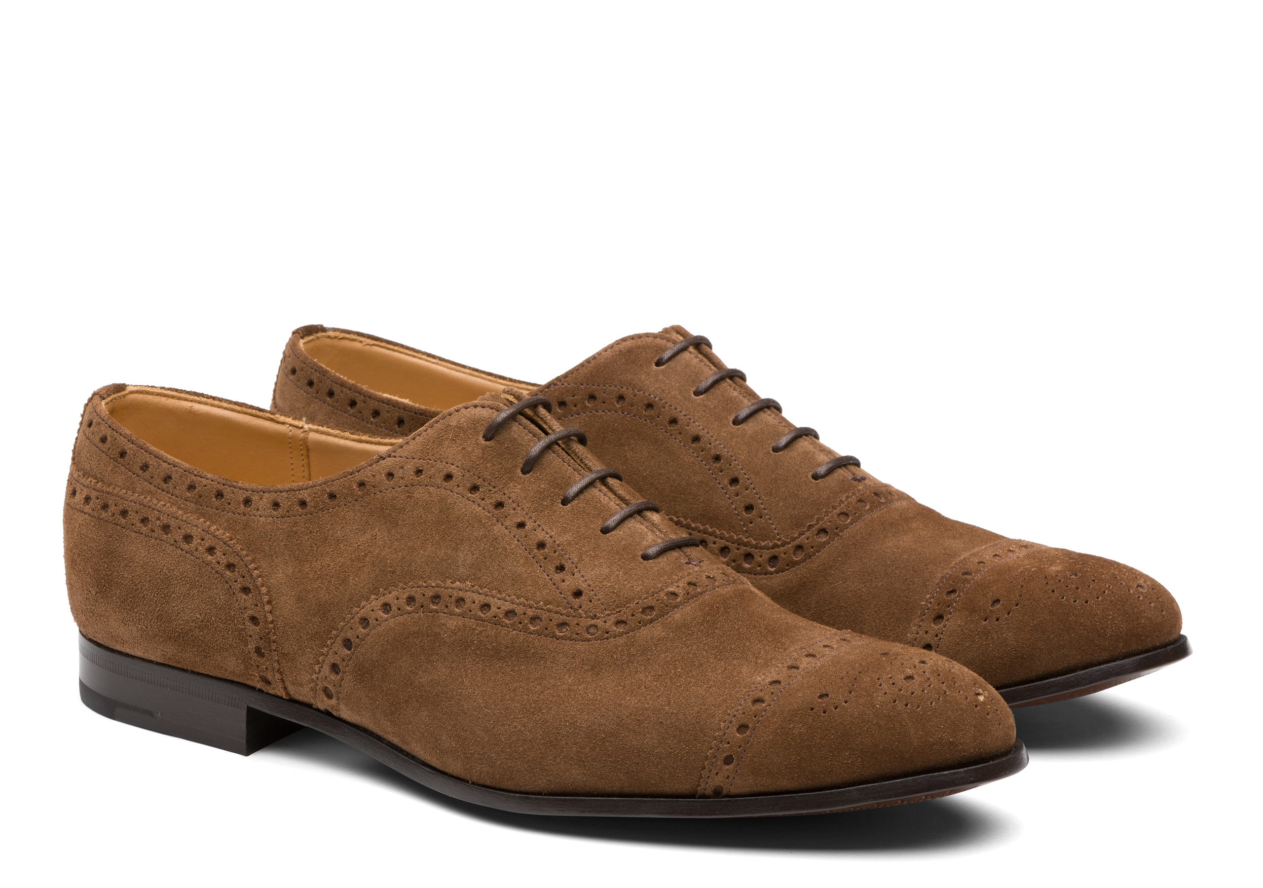 Duxford Church's Suede Oxford Brogue Brown