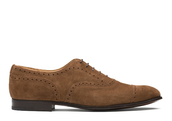Church's Duxford Oxford Brogue in Pelle Scamosciata Sigar