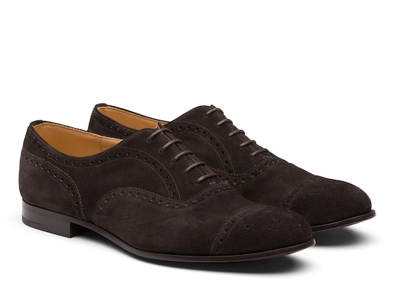 Church's  Suede Oxford Brogue Ebony