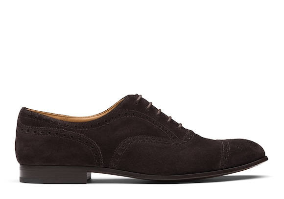 Church's Duxford Oxford Brogue in Pelle Scamosciata Marrone