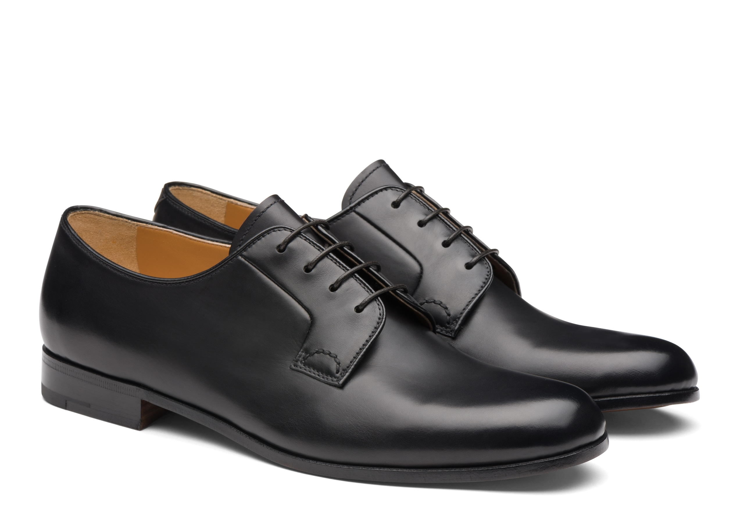 Ditchley Church's Calf Leather Derby Black Black