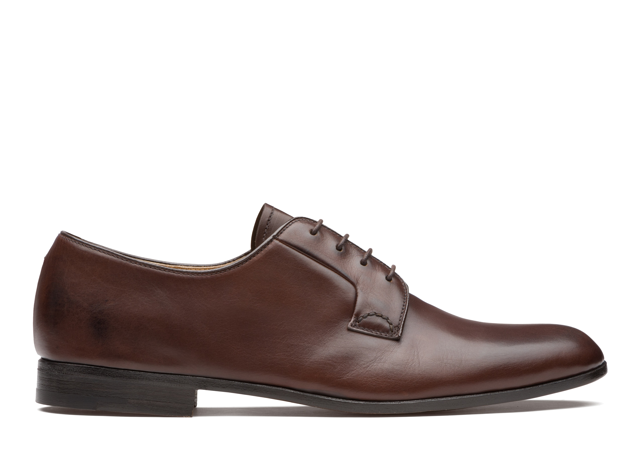Ditchley Church's Derby en Cuir de Veau Noir Marron