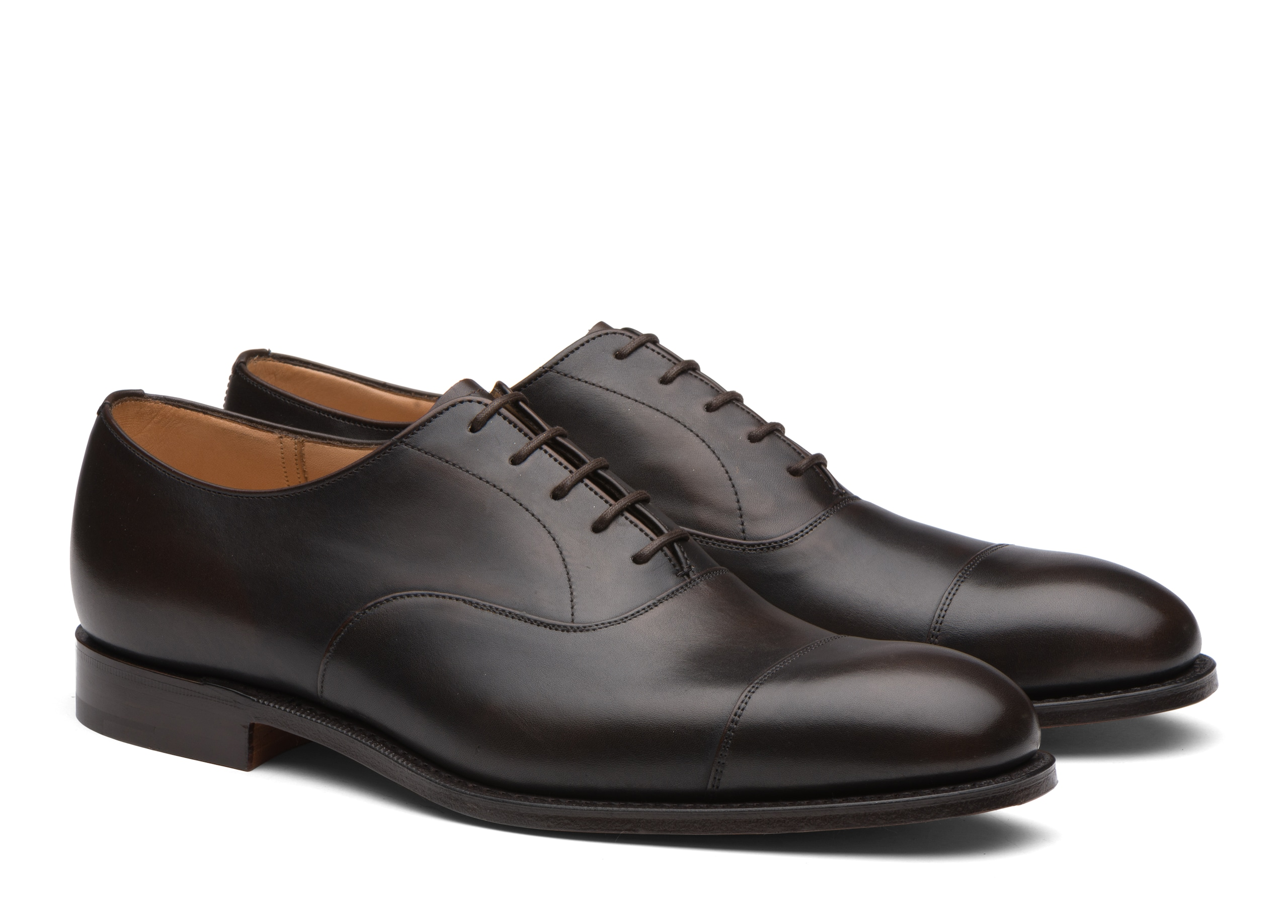 Consul^ Church's Polished Fumè Oxford Brown