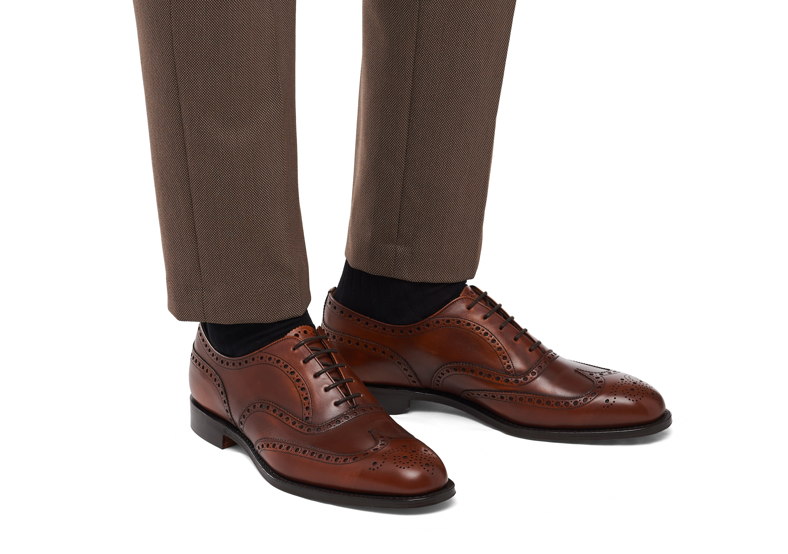 Chetwynd^ Church's Superior Calf Leather Oxford Brogue Brown