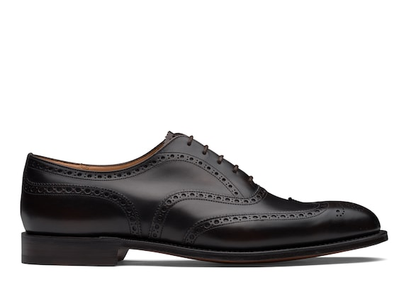 Church's true Superior Calf Leather Oxford Brogue Ebony