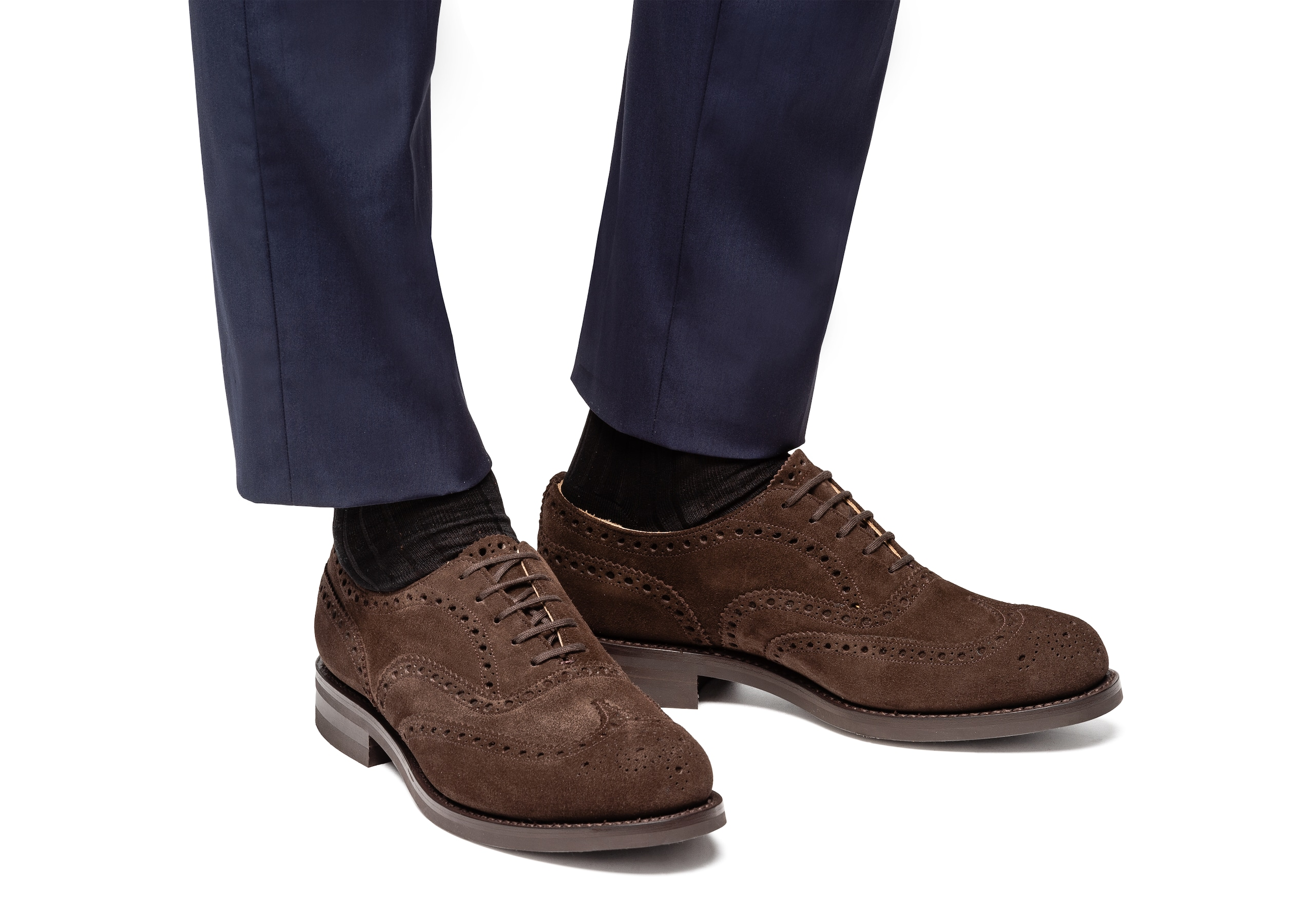 Amersham Church's Suede Oxford Brogue Brown