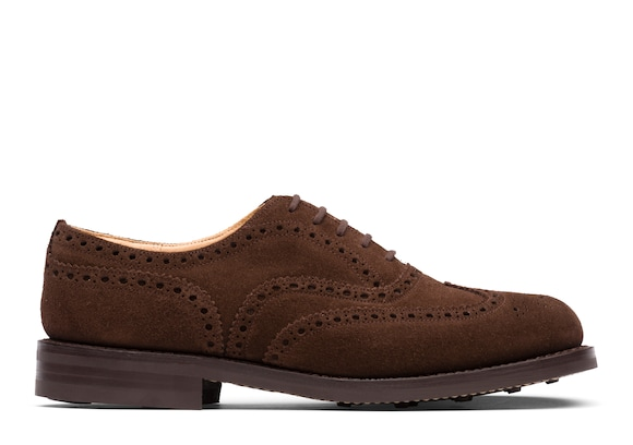 Church's true Oxford Brogue in Pelle Scamosciata Marrone