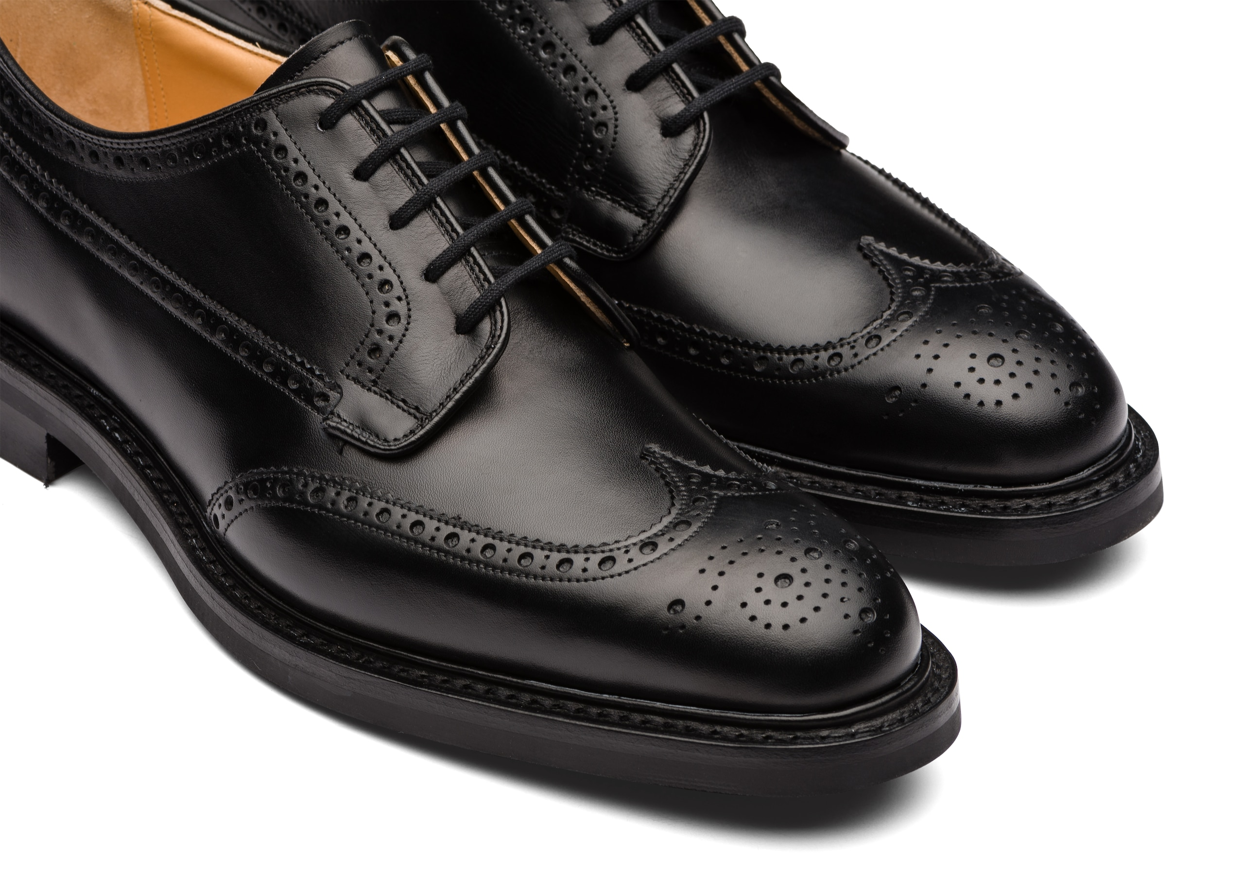 Grafton r Church's Calf Leather Derby Brogue Black
