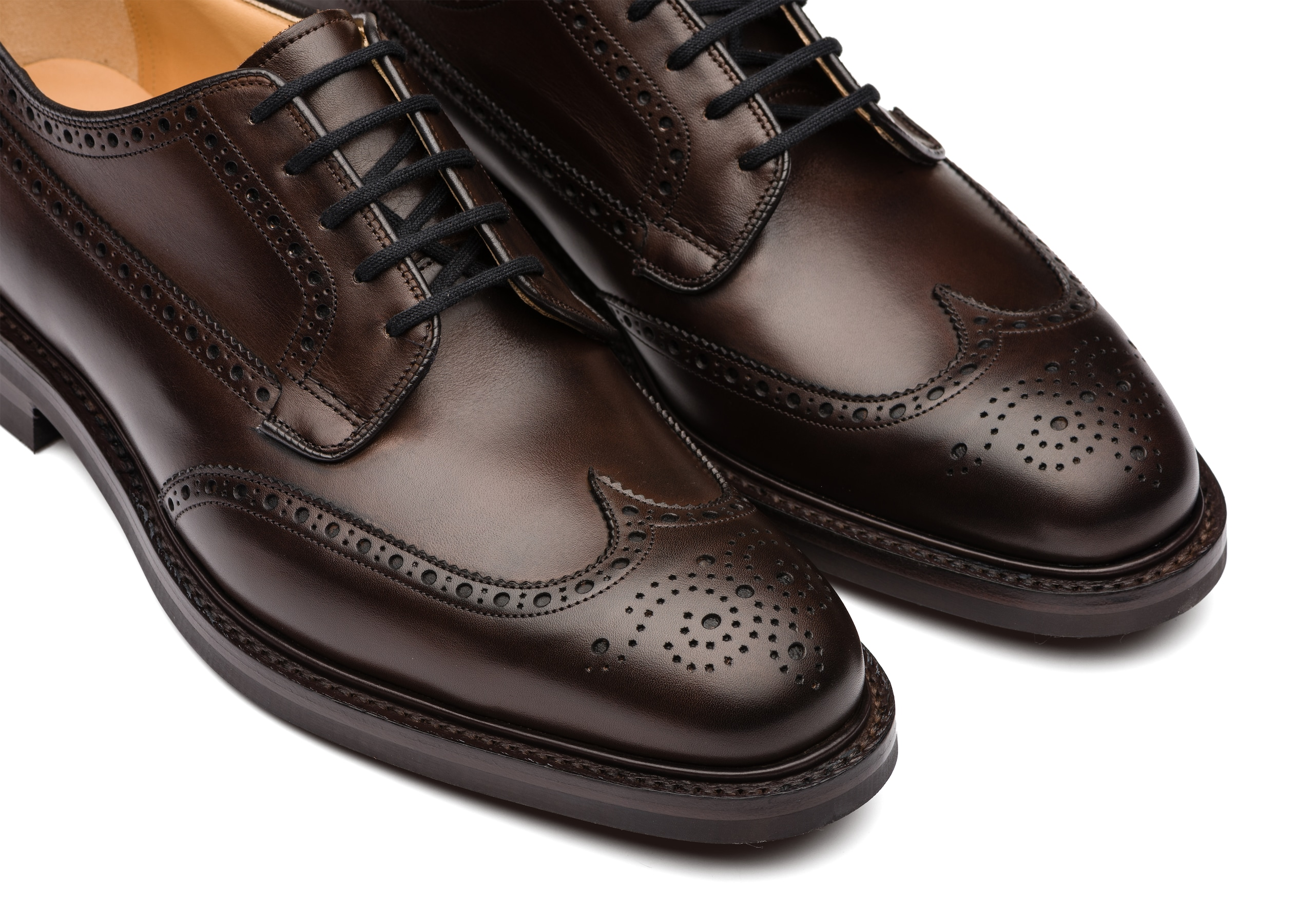 Grafton r 173 Church's Nevada Leather Derby Brogue Brown