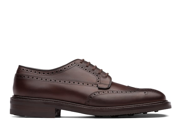 Church's Grafton r Nevada Leather Derby Brogue Ebony