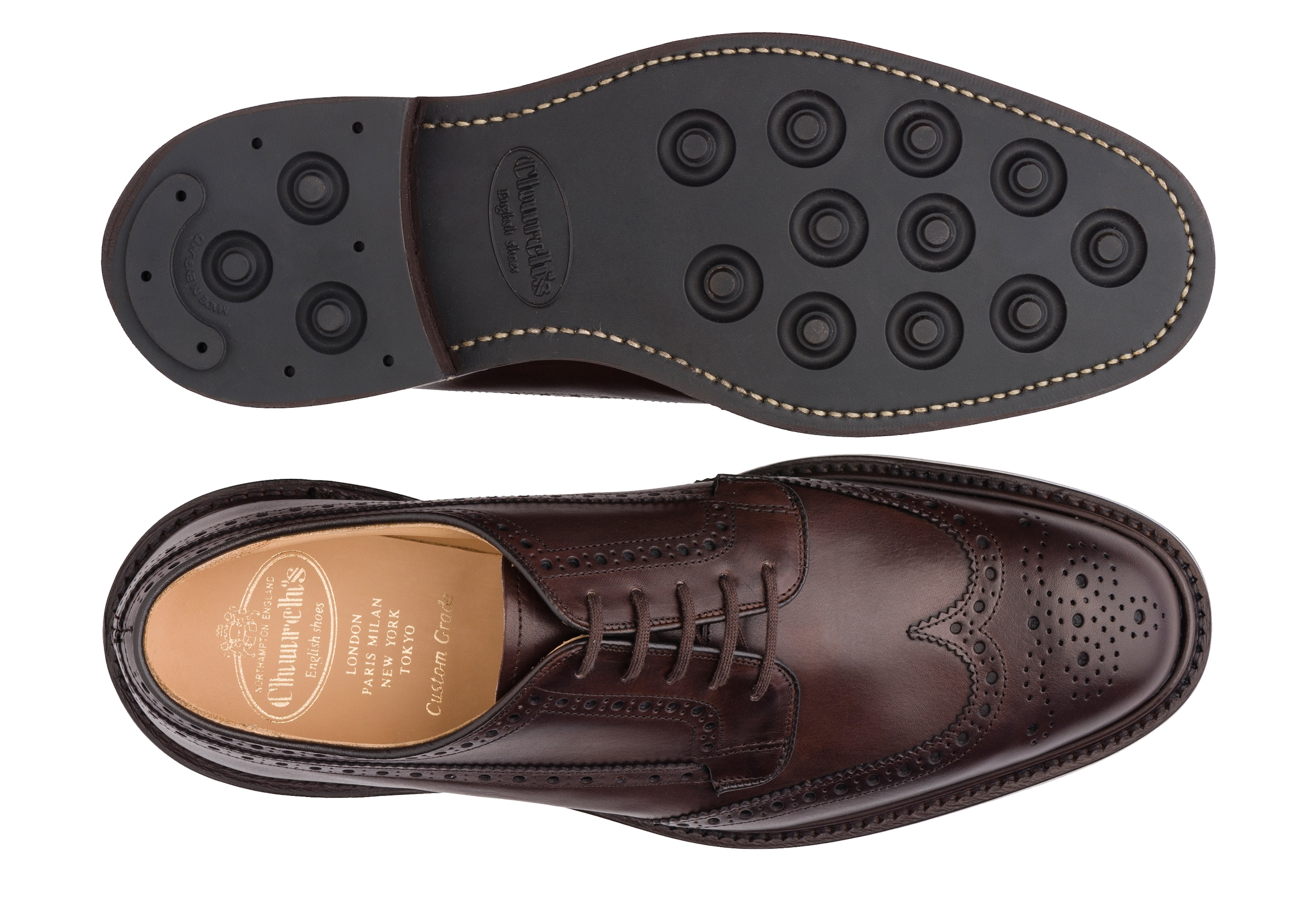 Grafton r Church's Nevada Leather Derby Brogue Brown