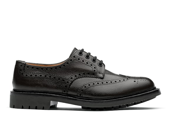 Church's Mcpherson Derby Richelieu en Cuir Grainé Highland Noir