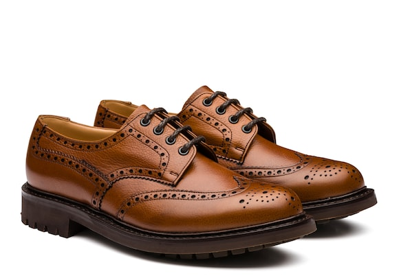 Church's Mcpherson Derby Richelieu en Cuir Grainé Highland Marron