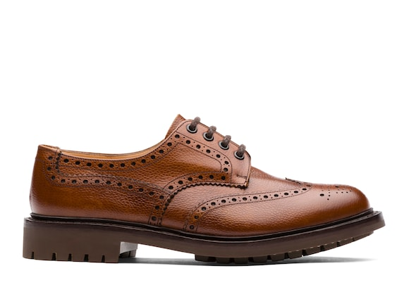Church's Mcpherson Derby Brogue in Pelle Pieno Fiore Highland Noce