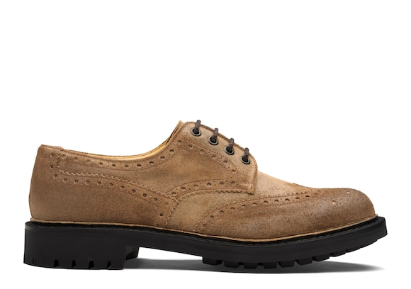 Waxed Suede Derby Brogue