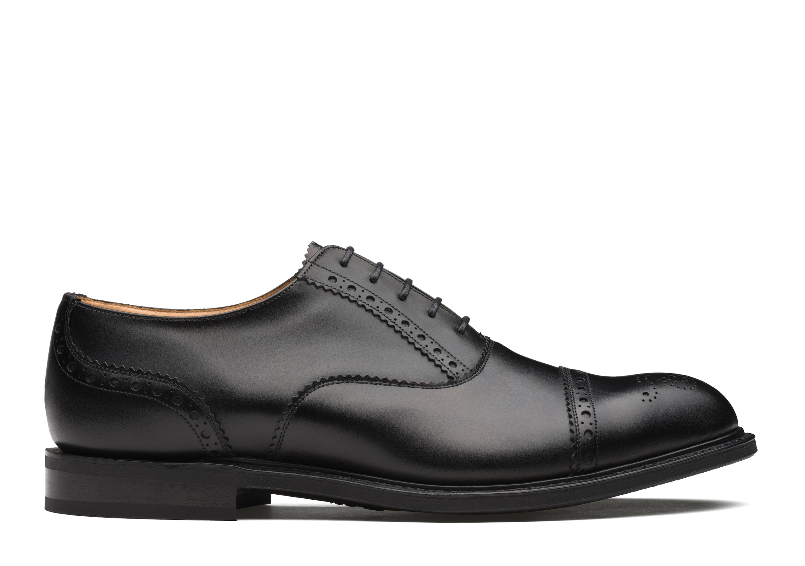 Waltham Church's Calf Leather Oxford Brogue Black