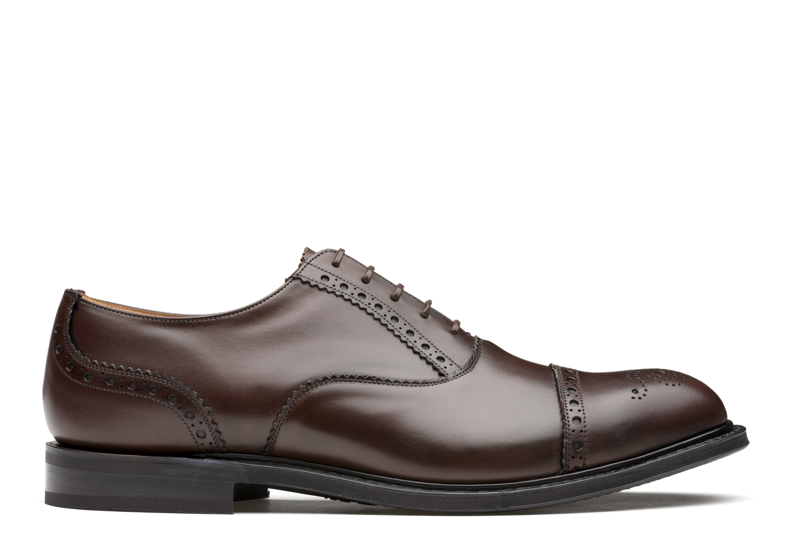 Waltham Church's Oxford Brogue in Pelle Nevada Marrone