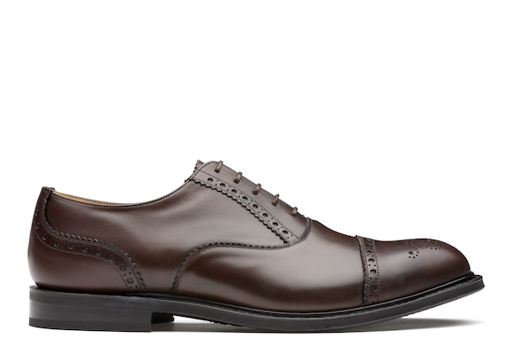Church's true Nevada Leather Oxford Brogue Ebony