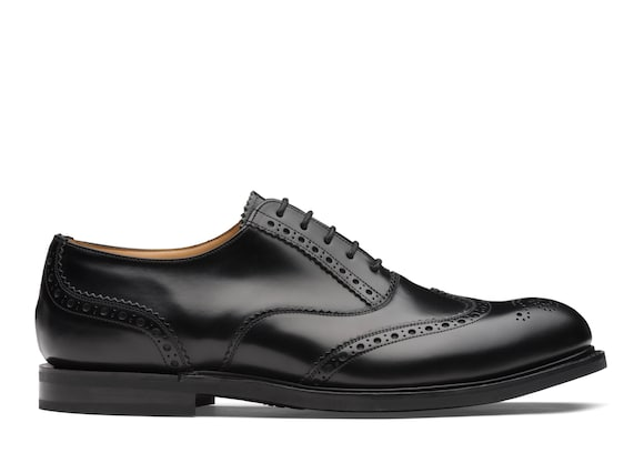 Church's true Oxford Brogue in Pelle di Vitello Spazzolato Nero