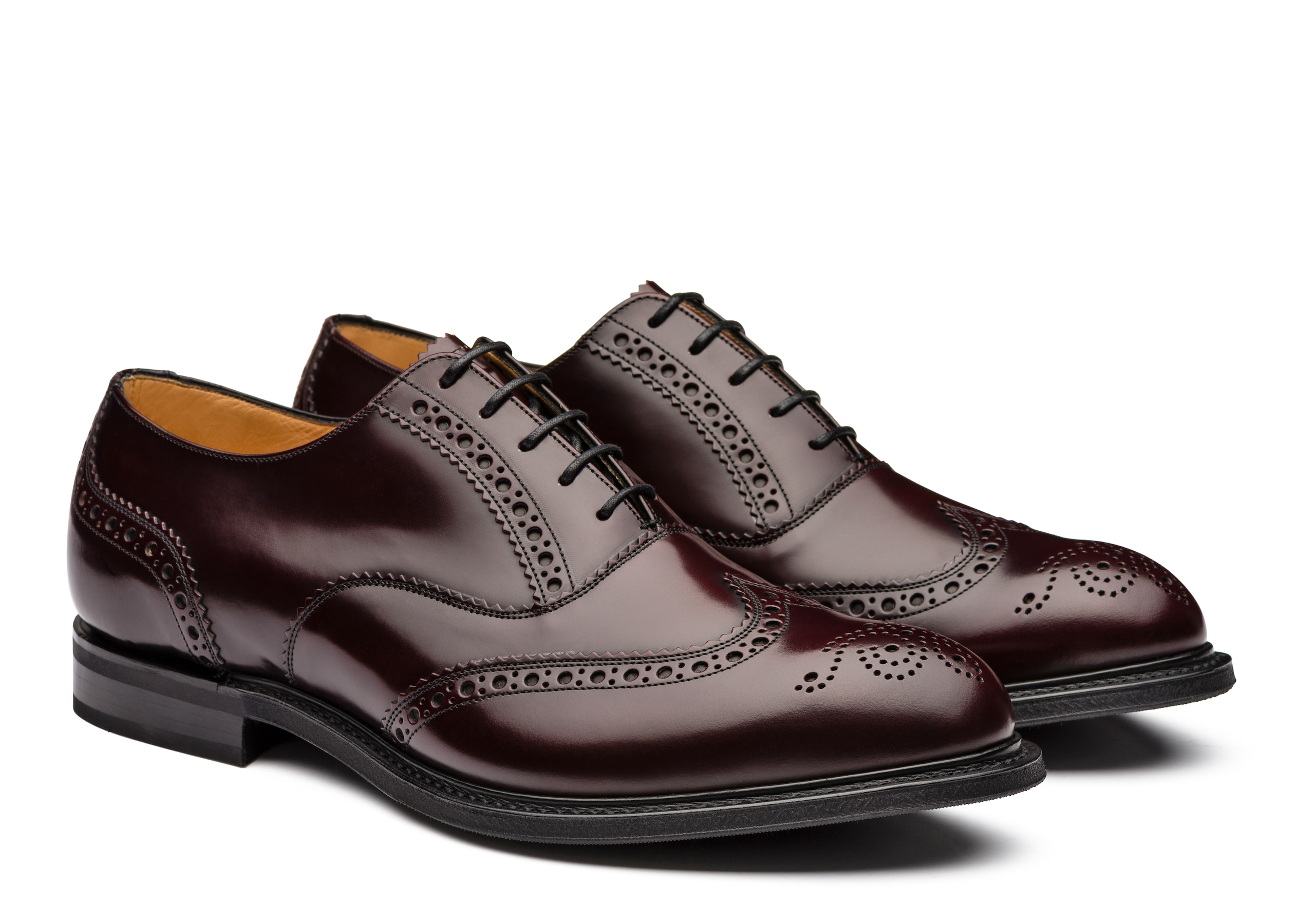 Wareham Church's Oxford Brogue in Pelle di Vitello Spazzolato Bordeaux