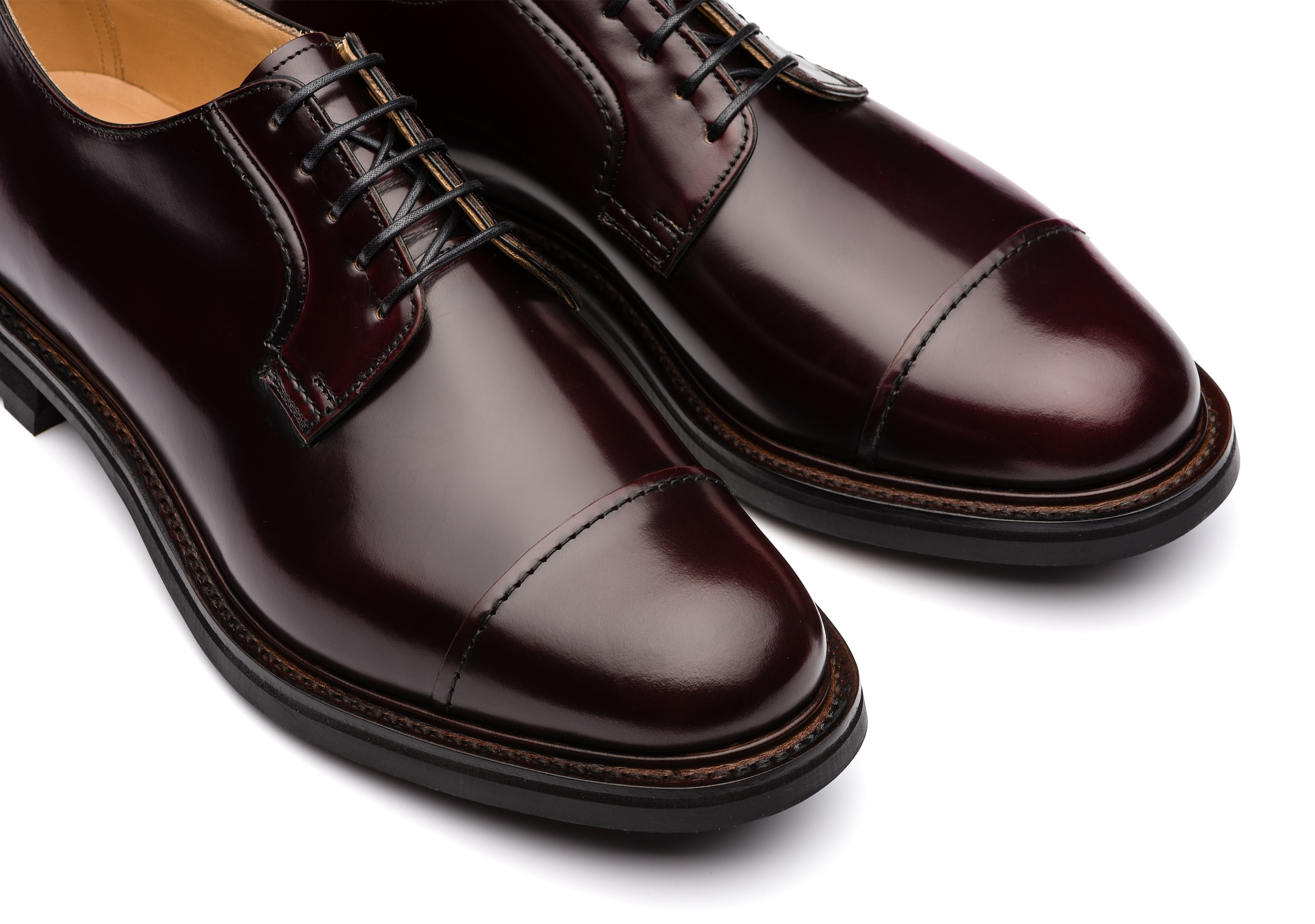 Wellington Church's Polished Binder Derby Burgundy