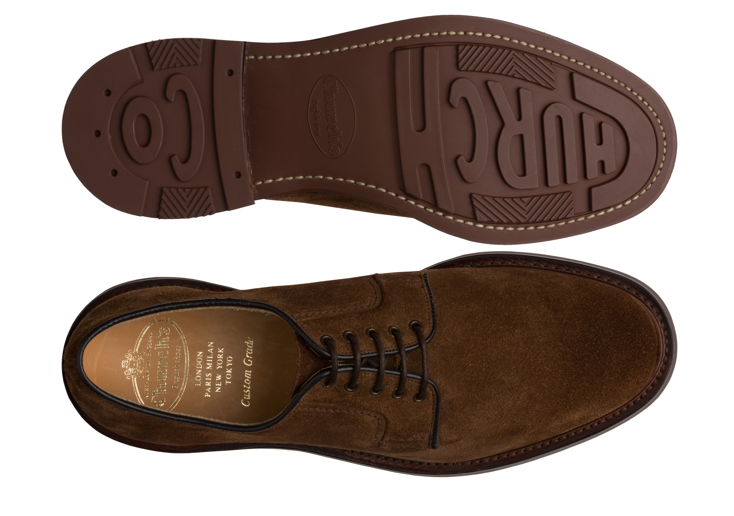 Bestone Church's Suede Derby Brown
